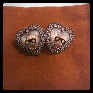 Betsy Johnson Pug earrings